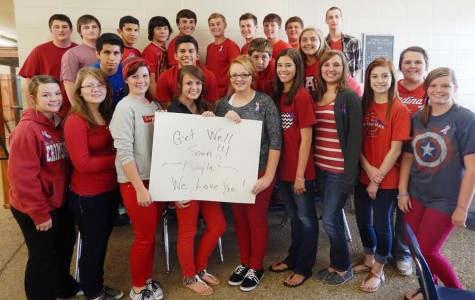 Sophomores wear red to support Griffin