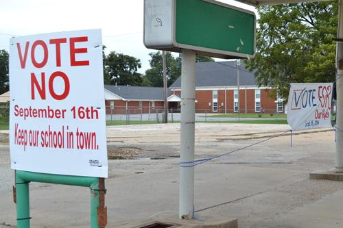 Supporters for both sides of the millage vote have posted signs all over the BIC school district.