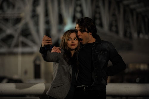 Chloë Grace Moretz and Jamie Blackley in If I Stay.
