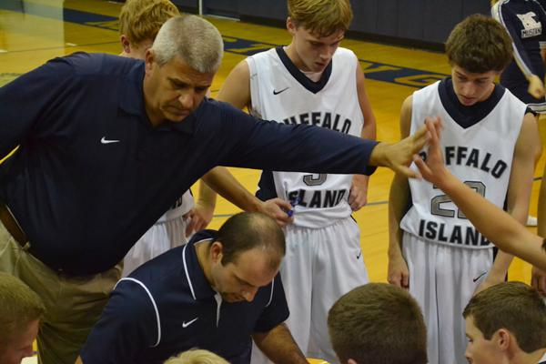 Coach Bill Taylor and his team at the recent Blue-Gray game