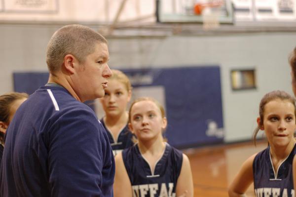 Coach Justin Yates takes a