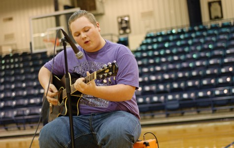 Zach Guiltner performing at last year's homecoming talent show.