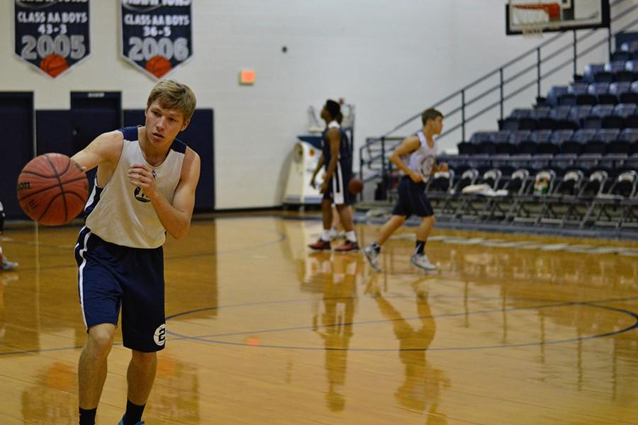 Junior Trey DePriest is back to practicing basketball after his recent heart surgery.