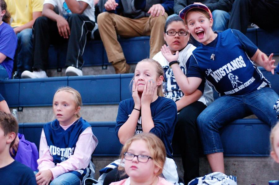Fans+in+the+student+section+have+a+variety+of+reactions.+