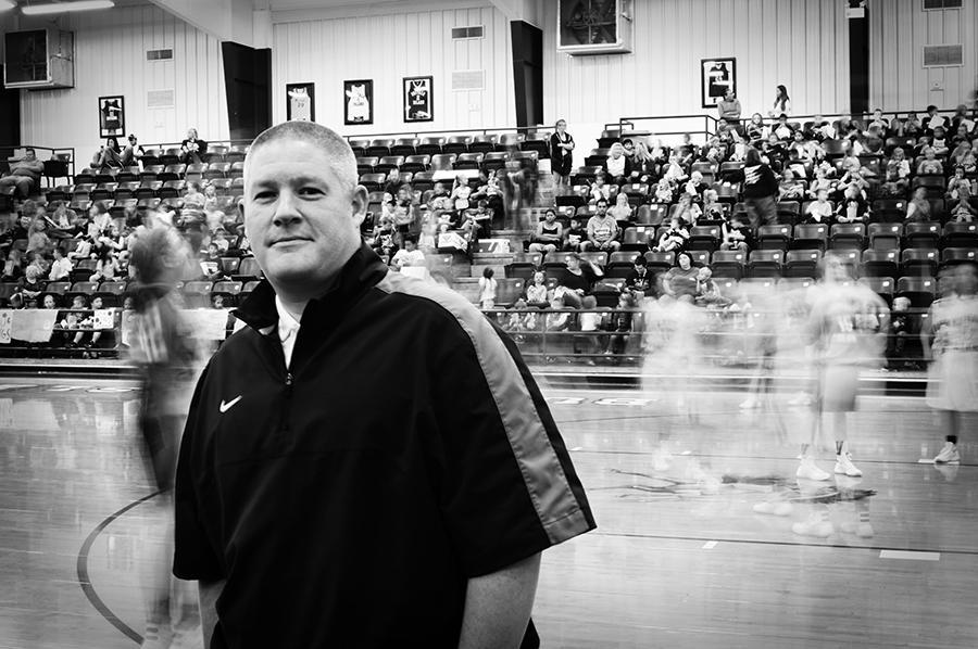 Girls' basketball coach Justin Yates