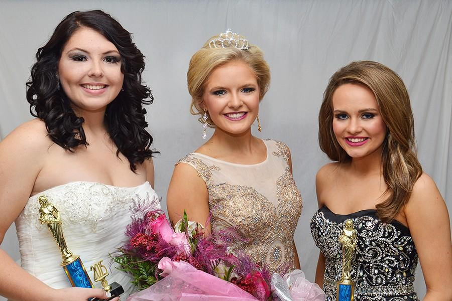 Sr. Miss BIC royalty, from left: Desiree Lancaster, 2nd alternate; Blaire Wildy, queen; Cadyn Qualls, 1st alternate