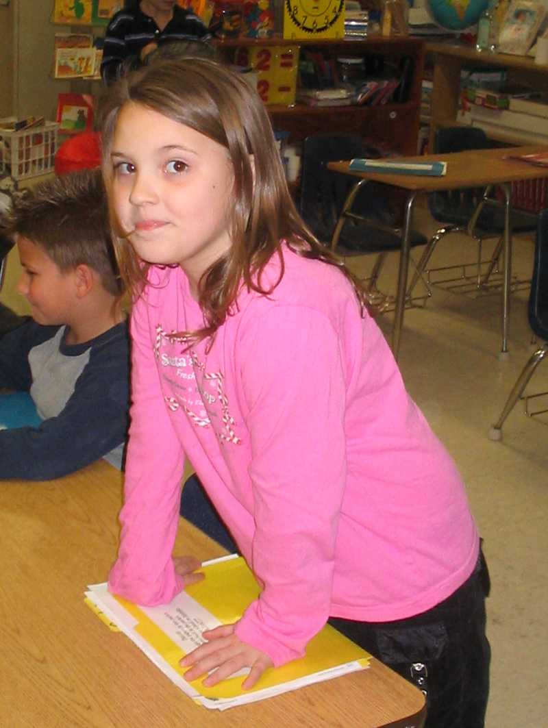 Current senior Caslyn Walls is featured in this photo from 2004.