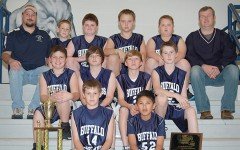 Members of this year's junior class are shown in the team photo from the West Elementary sixth grade basketball team in 2011.