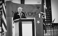 Arkansas Rep. Dave Wallace was the guest speaker at the Veterans Day assembly Monday at the MAC.