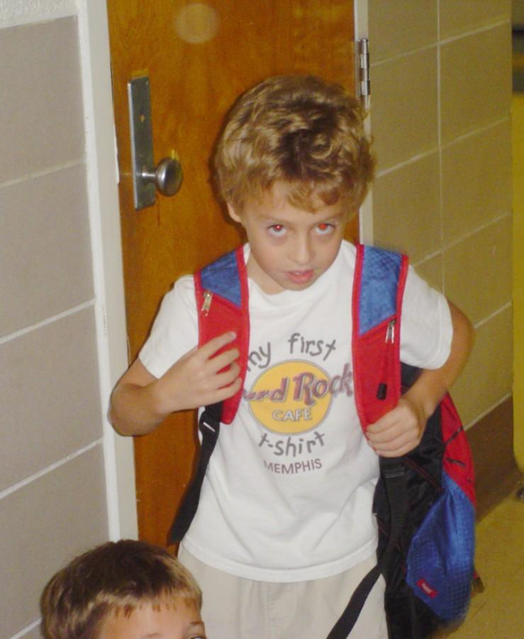 Senior Drake Jones gets ready for the end of the day in this photo from 2005.
