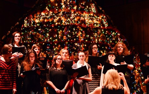 The choir warms up before their Christmas concert on Thursday, Dec. 3 at the Monette First Baptist Church. This was the first performance under the direction of Leigh Jackson.