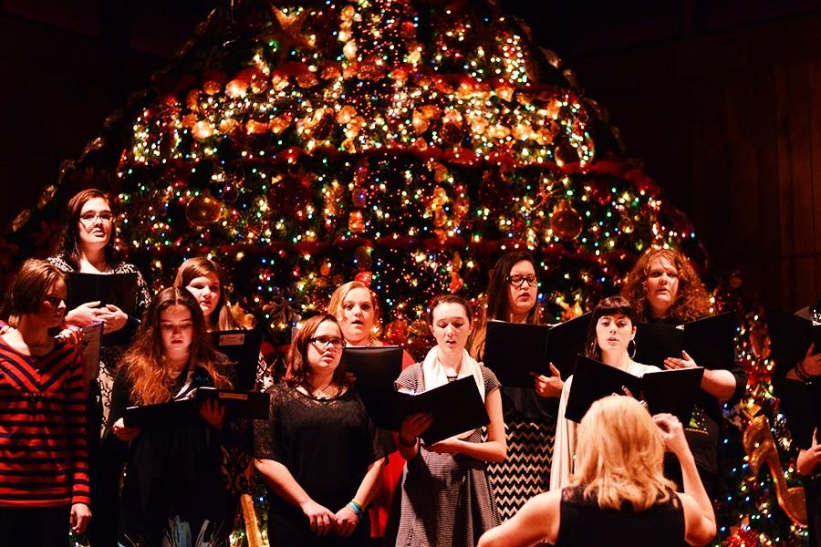 The+choir+warms+up+before+their+Christmas+concert+on+Thursday%2C+Dec.+3+at+the+Monette+First+Baptist+Church.+This+was+the+first+performance+under+the+direction+of+Leigh+Jackson.+