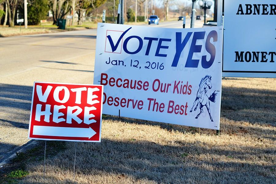 BIC+patrons+voted+Tuesday+to+approve+the+seven+mill+increase+for+construction+of+new+schools+in+both+Monette+and+Leachville.