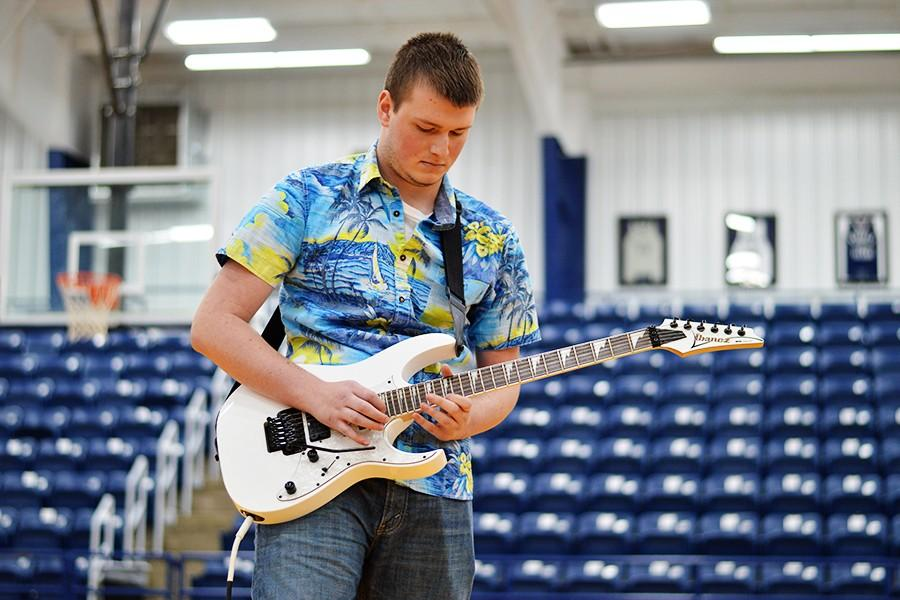 Senior Alex Matheny showed off his guitar skills.