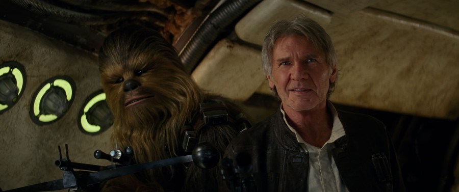 Peter+Mayhew+and+Harrison+Ford+return+to+their+iconic+roles+in+%22Star+Wars%3A+The+Force+Awakens.%22