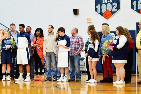 Senior athletes and their parents.