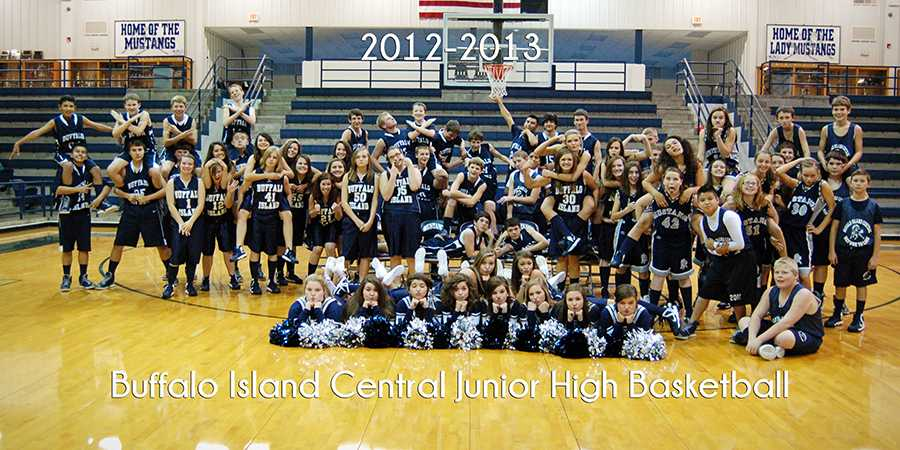 This team poster for the 2012-2013 junior high athletes turned up for this week's Time Machine. The photo was taken in November 2012 and features many current students.