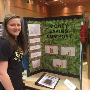 Senior Nikki Gordon with her Science Fair project. Among other awards, Gordon received first place in Junior Academy.