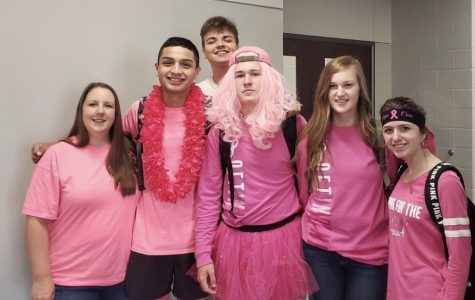 Student body wears pink for Breast Cancer Awareness Month
