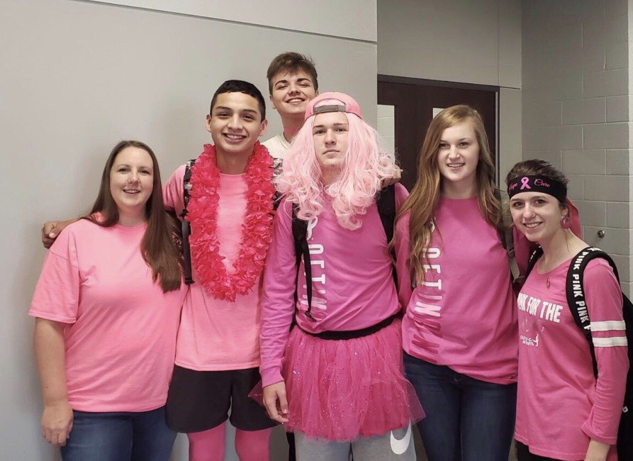 Student+body+wears+pink+for+Breast+Cancer+Awareness+Month