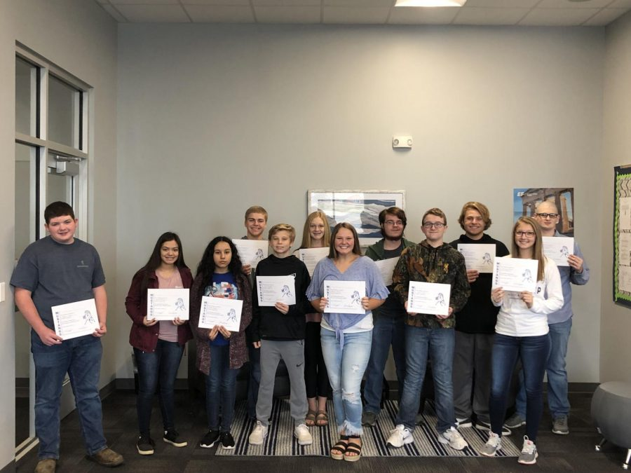 September Student of the Month Winners