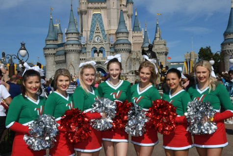 Senior Cheer Team Visits Magic Kingdom