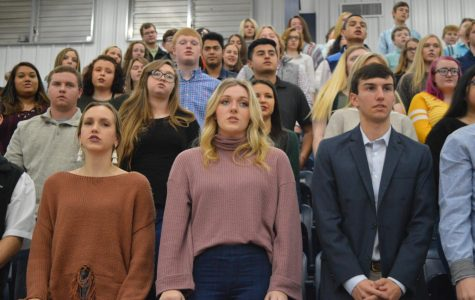 2020 NHS Induction held at Buffalo Island Campus